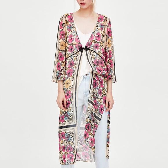 Zara Jackets & Blazers - Zara floral print dressing gown